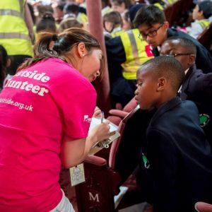 Volunteer in action